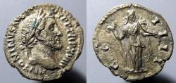 Ancient Coins - Roman Imperial denarius, Antoninus Pius, Fortuna reverse