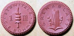 World Coins - German porcelain coin, Sebnitz, 1921 - 1 Mark