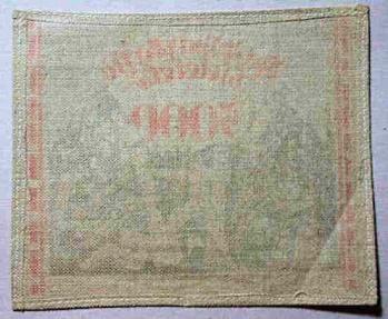 World Coins - GERMAN LINEN NOTGELD 5000 MARKS RED, 1923, PROPAGANDA