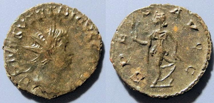 Ancient Coins - Tetricus II, 273-274 AD, AE antoninianus - SPES AVG
