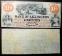Us Coins - North Carolina Obsolete bank note - Bank of Lexington - May 8, 1860 - 10 dollars