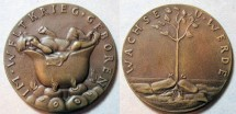 World Coins - large German bronze medal, Karl Goetz - 1938, WWI reference