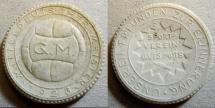 World Coins - German white porcelain medal, sports 1923 - white.