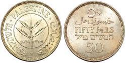 World Coins - PALESTINE. 1939, 50 Mils - KM# 6