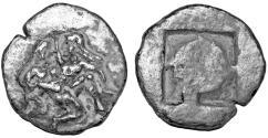 Ancient Coins - ANCIENT GREEK. Silver, Thrace, Thasos, AR drachm