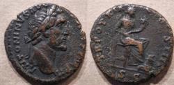 Ancient Coins - Antoninius Pius, 138-161 AD, AE As, Annona reverse