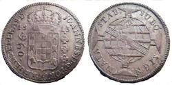 World Coins - BRAZIL 960 Reis, 1812-B, tons of mint luster remaining