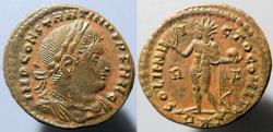 Ancient Coins - attractive Constantine I, 307-337 AD, AE follis, SOLI INVICTO COMITI