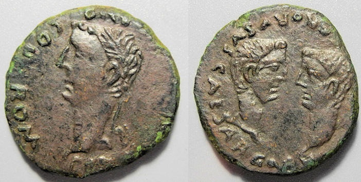 Ancient Coins - Hispania, Colonia Romula, Tiberius, 14-37 AD - AE As