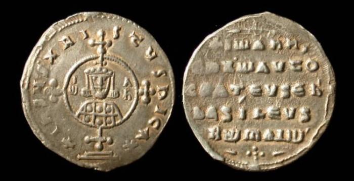 Ancient Coins - John I, Tzimisces, 969-967 AD, AR Miliaresion, high grade