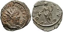 Ancient Coins - Imperial Rome. Postumus AR Billon Antoninianus. Fully lustrous EF!