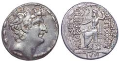 Ancient Coins - SELEUKID EMPIRE. Antiochos VIII Epiphanes (Grypos). 121/0-97/6 BC. AR Tetradrachm. Antioch on the Orontes mint.