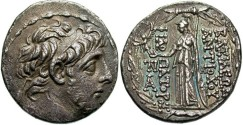Ancient Coins - SELEUCID KINGS of SYRIA. Antiochos IX Eusebes Philopator (Kyzikenos). 114/3-95 BC. AR Tetradrachm (29mm, 16.28 g, 12h). Antioch mint.