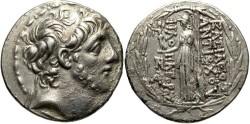 Ancient Coins - Syria, Seleucid Kings. Antiochos IX Eusebes Philopator (Kyzikenos). 114/3-95 BC. AR Tetradrachm (30mm, 15.89 g, 12h). Antioch mint.