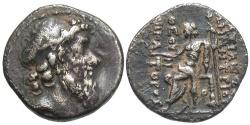 Ancient Coins - SELEUCID KINGS of SYRIA. Demetrios II Nikator. Second reign, 129-125 BC. AR Drachm (17mm, 3.87 g, 12h). Antioch mint.