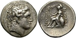 Ancient Coins - Kings of Thrace. Lysimachos. 305-281 BC. AR Tetradrachm (16.72 g, 31 mm,12h). Magnesia ad Maeandrum mint.