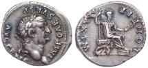 Ancient Coins - Vespasian. AD 69-79. AR Denarius (20mm, 3.21 g, 12h). Rome mint. Struck 73 AD. Magnificently toned.
