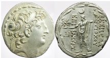 Ancient Coins - SELEUKID KINGS of SYRIA. Antiochos VIII Epiphanes (Grypos). 121/0-97/6 BC. AR Tetradrachm (31mm, 16.45 g, 12h). Ake-Ptolemaïs mint.