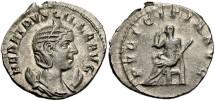 Ancient Coins - Imperial Rome. Herennia Etruscilla. Augusta, AD 249-251. AR Antoninianus (22mm, 3.68 g, 3h).