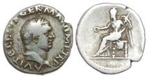 Ancient Coins - VITELLIUS AR Denarius (3.27g, 6h). Struck late April - December 69 AD. Rare.