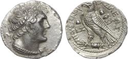 Ancient Coins - PTOLEMAIC KINGS of EGYPT. Ptolemy VI Philometor. First sole reign, 180-170 BC. AR Tetradrachm.Salamis mint. Rare.