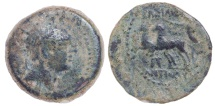 SELEUKID KINGS of SYRIA. Antiochos IV Epiphanes. 175-164 BC. Æ (19mm, 4.57 g, 1h). Ptolemaïs (Ake) mint(?).
