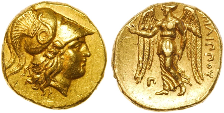 Ancient Coins -  KINGS of MACEDON. Philip III Arrhidaios. 323-317 BC. AV Stater (18mm, 8.56 g, 1h). Sidon mint.