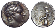SELEUKID KINGS of SYRIA. Antiochos IV Epiphanes. 175-164 BC. AR Drachm (15mm, 4.19 g, 9h). Mint in northern Media or Hyrcania.