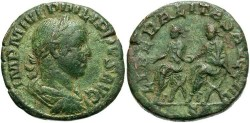 Ancient Coins - Imperial Rome. Philip II. 247-249 AD. AE Sestertius (18.33 gm, 30 mm). Struck 248 AD.