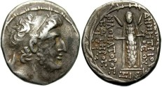 Ancient Coins - Syria, Seleucid Kings. Demetrios III Eukairos. 97/6-88/7 BC. AR Tetradrachm (29 mm, 15.62  g, 12h). Scarce.