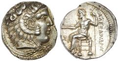 Ancient Coins - KINGS OF MACEDON. Alexander III 'the Great', 336-323 BC. Tetradrachm, Byblos. Lustrous Mint State.