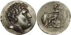 Ancient Coins - KINGS of PERGAMON. Eumenes I. 263-241 BC. AR Tetradrachm (30mm, 17.21 g, 1h). In the name of Philetairos. Superb.