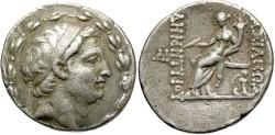Ancient Coins - Syria, Seleucid Kings. Demetrios I Soter. 162-150 BC. AR Tetradrachm (16.54 g, 31 mm, 12h). Antioch mint. Rare Bearded Portrait.