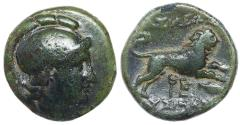 Ancient Coins - KINGS of THRACE. Lysimachos. 305-281 BC. Æ Unit (18mm, 4.54 gm).