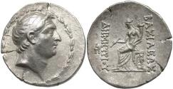 Ancient Coins - SELEUCID KINGS of SYRIA. Demetrios I Soter. 162-150 BC. AR Tetradrachm (31mm, 16.48 g, 1h). Antioch mint.