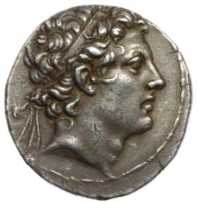 Ancient Coins -  SELEUKID KINGS of SYRIA. Antiochos IV Epiphanes. 175-164 BC. AR Tetradrachm. Antioch mint. Struck 168-164 BC. Beautifully toned.