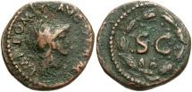 Ancient Coins - Domitian. AD 81-96. Æ Quadrans (18mm, 3.02 g, 11h). Rome mint. Struck AD 84-85.