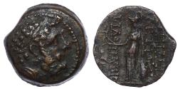 Ancient Coins - SELEUKID EMPIRE. Antiochos IX Eusebes Philopator (Kyzikenos). 114/3-95 BC. Æ 19. Antioch on the Orontes mint.