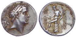 """Ancient Coins - SELEUKID KINGS of SYRIA. Seleukos IV Philopator. 187-175 BC. AR Tetradrachm (28mm, 16.80 g, 12h). """"Wreath"""" mint."""