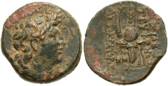 Ancient Coins - SELEUCID EMPIRE. Tryphon. Circa 142-138 BC. Æ (18mm, 4.64 g, 12h). Antioch on the Orontes mint.