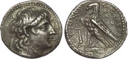 Ancient Coins - SELEUKID EMPIRE. Antiochos VII Euergetes (Sidetes). 138-129 BC. AR Tetradrachm (27 mm, 13.65 gm, 12h). Tyre mint
