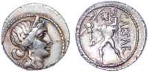 Ancient Coins - The Caesarians. Julius Caesar. Late 48-47 BC. AR Denarius. Toned and Lustrous.