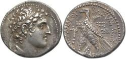 Ancient Coins - SELEUCID KINGS of SYRIA. Alexander I Balas. 152-145 BC. AR Tetradrachm (28mm, 14.03 g, 1h). Tyre mint.