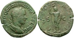 Ancient Coins - Imperial Rome. GORDIAN III. 238-244 AD. Æ Sestertius (20.12 gm, 33 mm). Struck 241-243 AD.