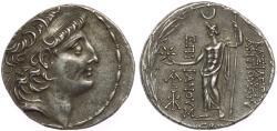 Ancient Coins - SELEUKID EMPIRE. Antiochos VIII Epiphanes (Grypos). 121/0-97/6 BC. AR Tetradrachm (28mm, 16.25 g, 12h). Damaskos mint.