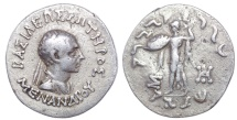 Ancient Coins - BAKTRIA, Indo-Greek Kingdom. Menander I Soter. Circa 155-130 BC. AR Tetradrachm.