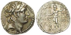 Ancient Coins -   SELEUKID EMPIRE. Antiochos VIII Epiphanes (Grypos). 121/0-97/6 BC. AR Tetradrachm (29mm, 16.38 g, 12h). Damaskos mint.