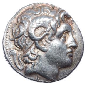 Ancient Coins - KINGS of THRACE. Lysimachos. 305-281 BC. AR Tetradrachm. Pergamon mint. Luster. Superb portrait.