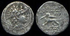 Ancient Coins - Seleucid Kingdom,  Antiochos VI Hemidrachm, Panther Reverse!