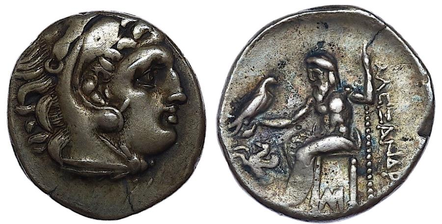 Ancient Coins - KINGS of MACEDON. Antigonos I Monophthalmos. As Strategos of Asia, 320-306/5 BC, or king, 306/5-301 BC. AR Drachm (18mm, 4.19g, 5h).